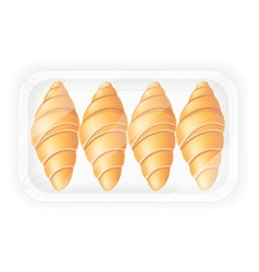 Croissant in packaging vector