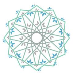 Decorative leaf mandala vector