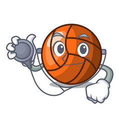 doctor volleyball character cartoon style vector image