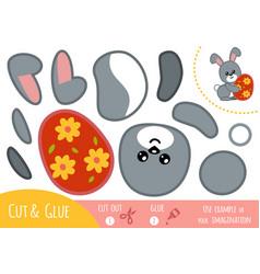 education paper game for children easter rabbit vector image