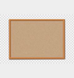 Empty office cork bulletin board template vector