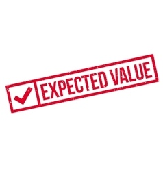 Expected Value rubber stamp vector