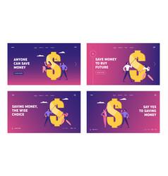 financial goal achievement website landing page vector image