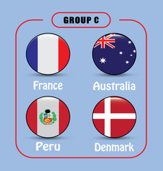 football championship flags group c vector image