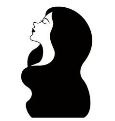 Girl avatar with long hair happy women day vector
