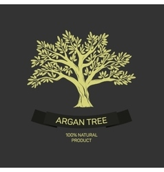 Hand drawn graphic argan tree vector image