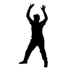 handball goalkeeper silhouette isolated vector image