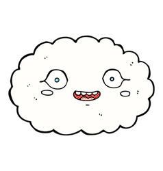 happy comic cartoon cloud vector image