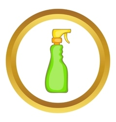 Household spray bottle icon vector