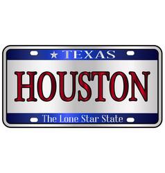 Houston texas license plate vector
