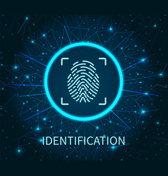 identification poster illuminated digital data vector image