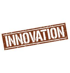 Innovation square grunge stamp vector