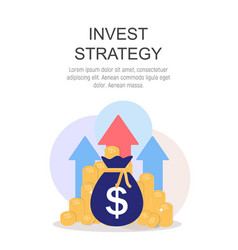 invest strategy concept flat background vector image