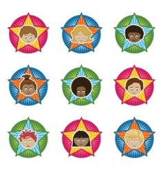 kids badges vector image