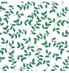 Leaves pattern seamless botanic texture spring vector