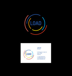 loading colored lines logo vector image