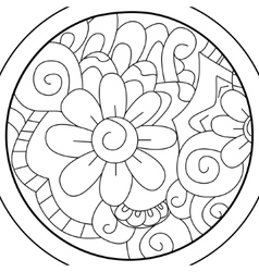 Mandala Ball flower coloring for adults vector image