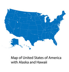 Map united states america with alaska and vector