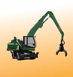 metal crane vector image