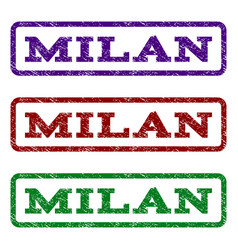 milan watermark stamp vector image