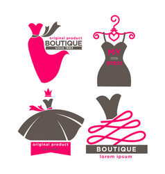 Modern fashion boutiques logotypes vector