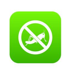 No locust sign icon digital green vector