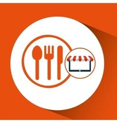 online shop restaurant design icon vector image