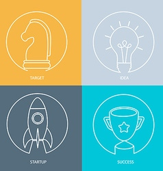 Outline web icon set vector