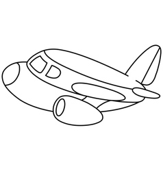 Outlined plane vector