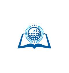 page golf logo icon design vector image