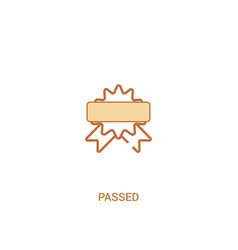 Passed concept 2 colored icon simple line element vector