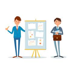presentation financial analytics report business vector image