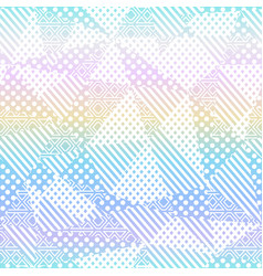 rainbow fabric seamless pattern vector image