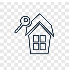 real estate concept linear icon isolated on vector image