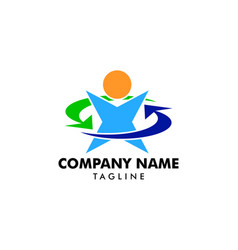 recovery people logo design element vector image