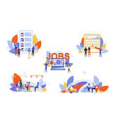 Recruitment hr management job interview vector