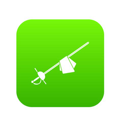 saber icon digital green vector image