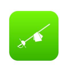 saber icon digital green vector image