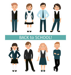 School children set vector