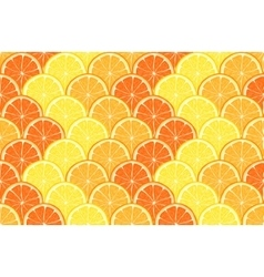 seamless geometric pattern with hand drawn orange vector image