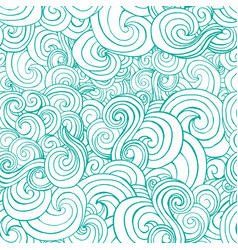 Seamless pattern with blue white stylized curls vector