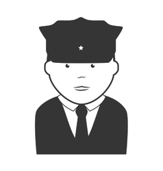 security man police icon vector image