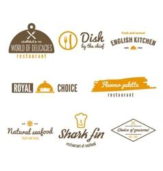 Set of logo badge emblem and logotype elements vector image