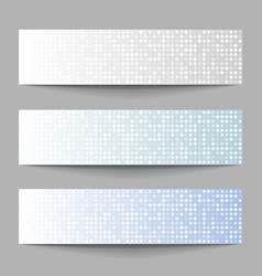 set technology pixel banners vector image