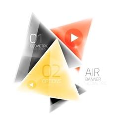 Shiny glass triangle web box vector image