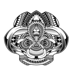 Tattoo abstract black arm template vector