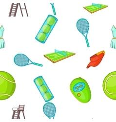 Tennis pattern cartoon style vector