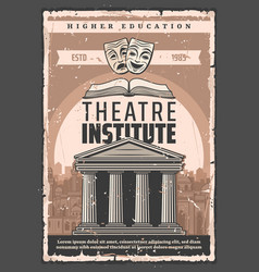 Theater actors art institute higher education vector