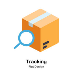 Tracking flat icon vector