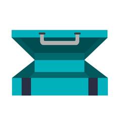 Travel suitcase icon vector